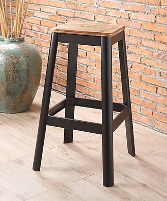 Williston Forge Mee 30'' Bar Stool; Black
