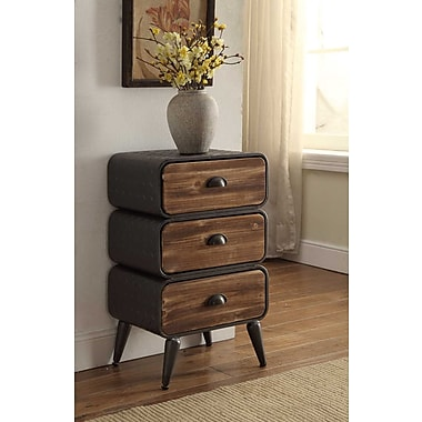 Williston Forge Buck Rounded 3 Drawer Chest