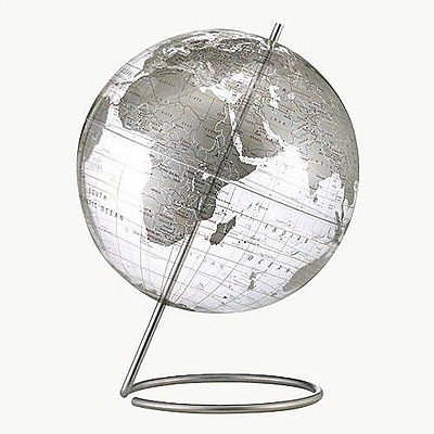 Brayden Studio Crystal Marquise Transparent Silver World Globe