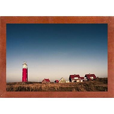 Breakwater Bay 'Texel Lighthouse' Photographic Print; Canadian Walnut Wood Medium Framed Paper