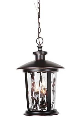 Longshore Tides Irasville 3-Light Outdoor Hanging Lantern