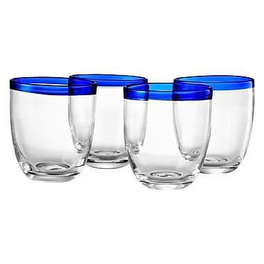 Latitude Run Simonds 12 Oz. DOF Glass (Set of 4); Cobalt