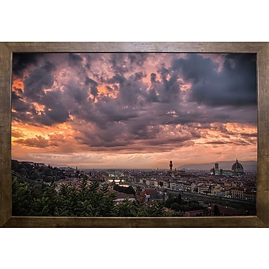 Ebern Designs 'Bloody Sky' Photographic Print; Cafe Mocha Framed Paper