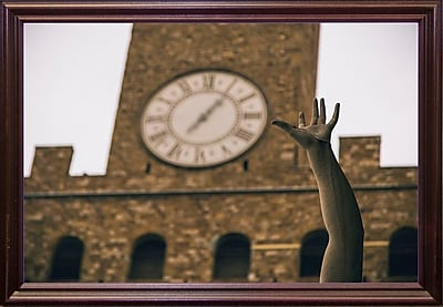 Ebern Designs 'Florence' Photographic Print on Paper; Cherry Wood Grande Framed Paper