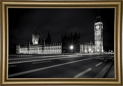 Ebern Designs 'Letters from London 2' Photographic Print; Bistro Gold Framed Paper