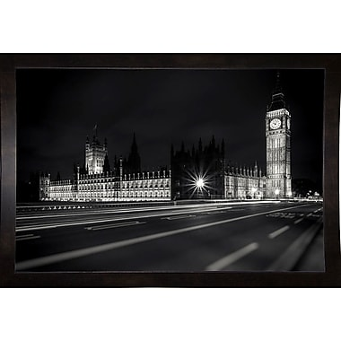 Ebern Designs 'Letters from London 2' Photographic Print; Black Wood Medium Framed Paper