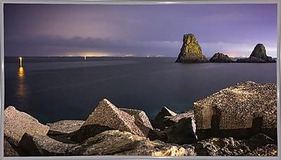 Ebern Designs 'Acitrezza' Photographic Print; White Metal Framed Paper