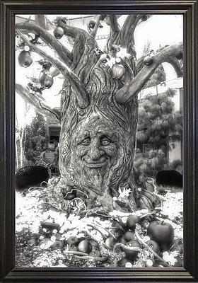 Ebern Designs '35' Graphic Art Print; Black Wood Grande Framed Paper