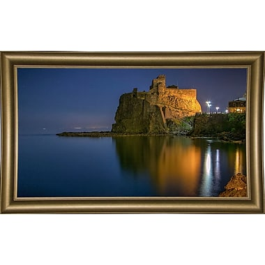 Ebern Designs 'Reflections' Photographic Print; Bistro Gold Framed Paper