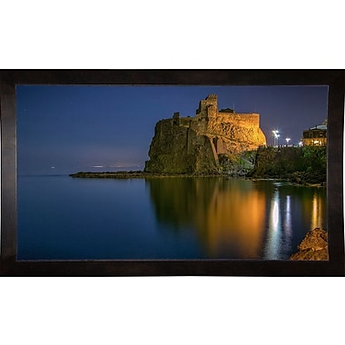 Ebern Designs 'Reflections' Photographic Print; Cafe Espresso Wood Framed Paper