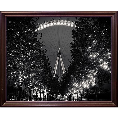 Ebern Designs 'The Eye' Photographic Print; Cherry Wood Grande Framed Paper