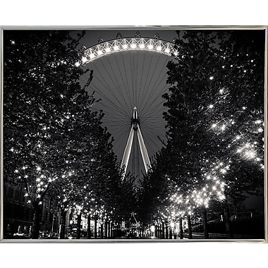 Ebern Designs 'The Eye' Photographic Print; Silver Metal Framed Paper