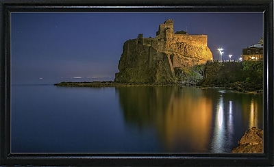 Ebern Designs 'Reflections' Photographic Print; Black Metal Flat Framed Paper