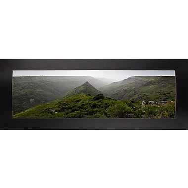 East Urban Home 'Panorama Israel No 1' Photographic Print; Black Wood Large Framed Paper