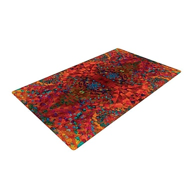 East Urban Home Orange Abstract Area Rug; 4' x 6'