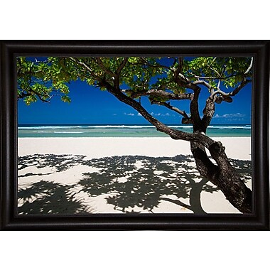 East Urban Home 'Shadows on the Beach' Photographic Print; Bistro Expresso Framed Paper