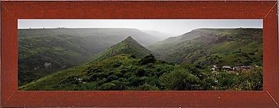 East Urban Home 'Panorama Israel No 1' Photographic Print; Red Mahogany Wood Medium Framed Paper