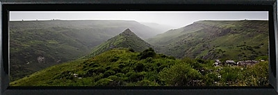 East Urban Home 'Panorama Israel No 1' Photographic Print; Shiny Black Metal Framed Paper