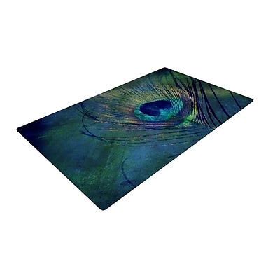 East Urban Home Green/Blue Outdoor Area Rug; 2' x 3'