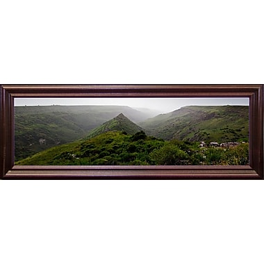 East Urban Home 'Panorama Israel No 1' Photographic Print; Cherry Wood Grande Framed Paper