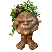 HomeStyles Muggly The Face Grandma Rose Statue Planter; Stone Wash