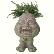 HomeStyles Muggly The Face Crying Brother Statue Planter; Stone Wash