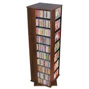 Rebrilliant Entertainment 1160 CD Multimedia Revolving Tower; Walnut