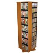 Rebrilliant Entertainment 1160 CD Multimedia Revolving Tower; Oak