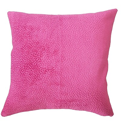 Rosdorf Park Chesterman Solid Down Filled Lumbar Pillow; Azalea