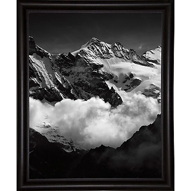 Union Rustic 'Mountains Black and White' Photographic Print; Bistro Expresso Framed Paper