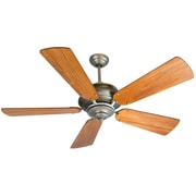 Loon Peak 52'' Arnette Contemporary 5-Blade Fan; Pewter with Teak Blades