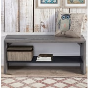 Loon Peak Arocho Solid Reclaimed Wood Storage Bench; Gray