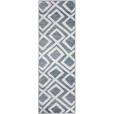 Ebern Designs Darroll Flagstone Blue Area Rug; 2'7'' x 8'