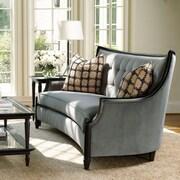Astoria Grand Exposed Wood Sofa; Blue