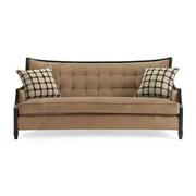 Astoria Grand Exposed Wood Sofa; Camel