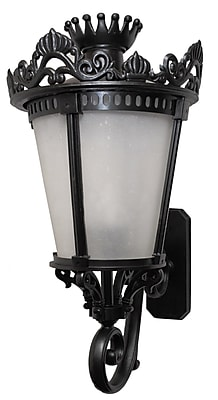 Astoria Grand Worrell 3-Light Outdoor Sconce; Old Iron