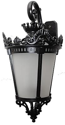 Astoria Grand Worrell 3-Light Outdoor Wall Lantern; Old Iron