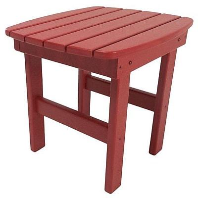 Loon Peak Jaune Side Table; Red