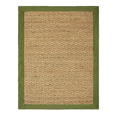 Bay Isle Home Pine Hand-Woven Beige/Sage Indoor/Outdoor Area Rug; 2' x 3'