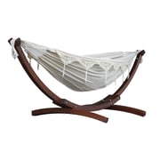 Vivere Double Cotton Hammock With Solid Pine Stand