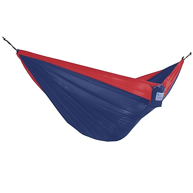 Vivere Double Parachute Hammock, Navy and Olive (PAR21)