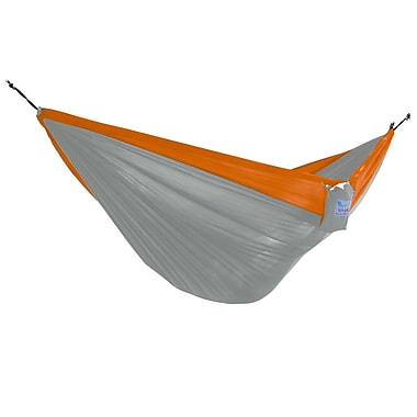 Vivere Double Parachute Hammock, Grey and Orange (PAR26)