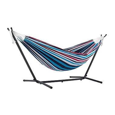 Vivere Double Hammock Combo With Stand, Denim (UHSDO8-12)