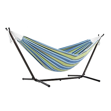 Vivere Double Hammock Combo With Stand, Oasis (UHSDO8-24)