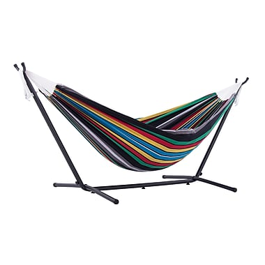 Vivere Double Hammock Combo With Stand, Rio Night (UHSDO8-27)