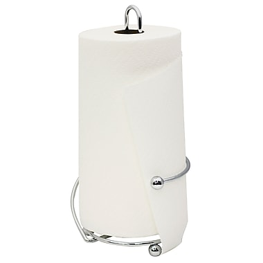 Home Basics Chrome Plated Steel Wire Collection Paper Towel Holder, Chrome