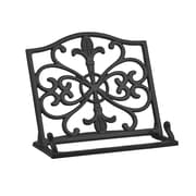 Home Basics Cast Iron Steel Fleur De Lis Cook Book Stand