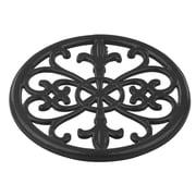 Home Basics Cast Iron Fleur De Lis Trivet, Black