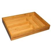 Home Basics Bamboo Expandable Cutlery Tray