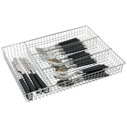 Home Basics Chrome Plated Steel Cutlery Tray